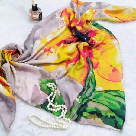 روسری جدید نخی دور دوخت sr-n329 از نمای نزدیک