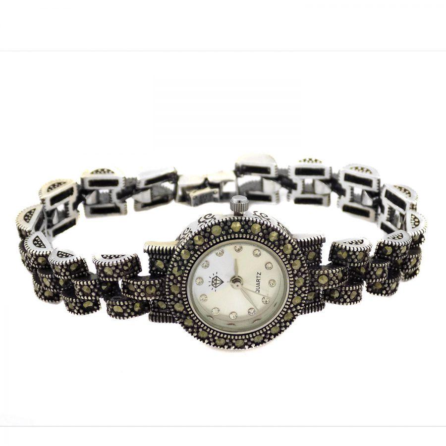 ساعت نقره زنانه طرح رولکس ma-n121 از نمای سفید