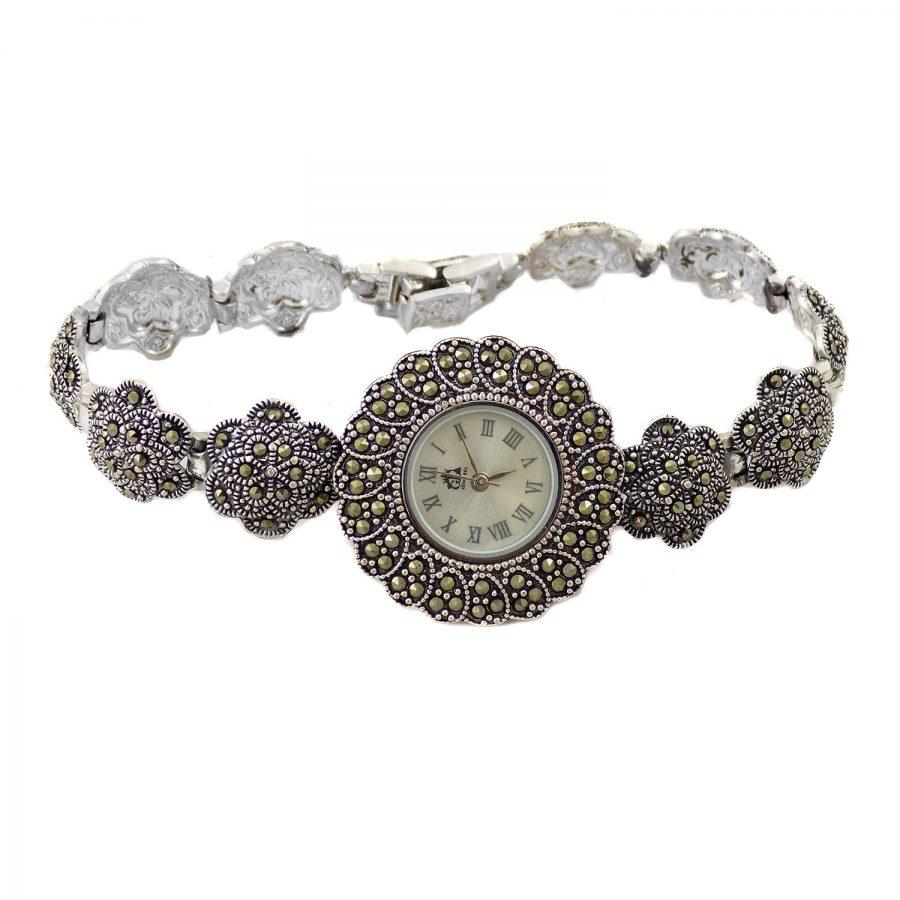 ساعت نقره سیاه قلم زنانه MA-N119 از نمای روبرو