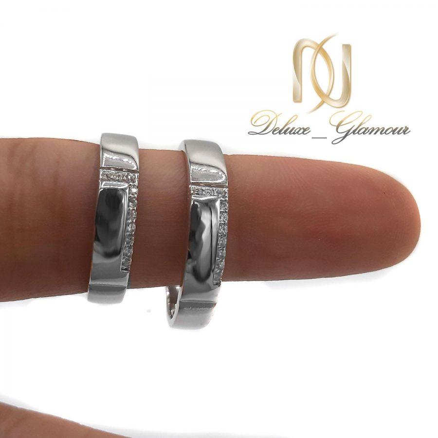 ست حلقه نقره نامزدی rg-n441 از نمای روی دست
