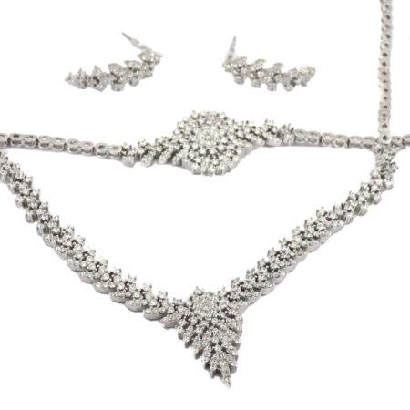 سرویس نقره جواهری زنانه MA-N104 از نمای نزدیک
