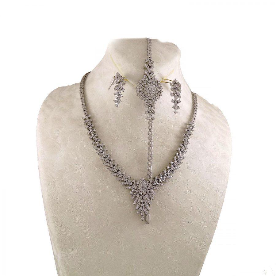 سرویس نقره جواهری زنانه MA-N104 از نمای دور