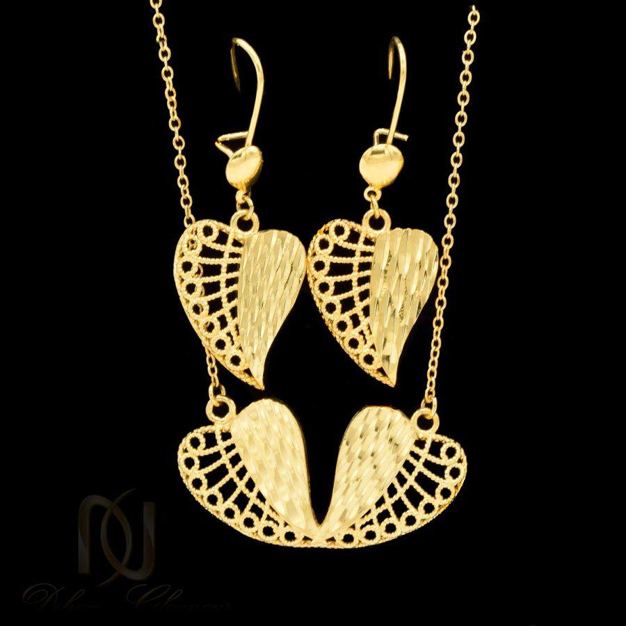 نیم ست زنانه طرح طلا ns-n467 از نمای مشکی