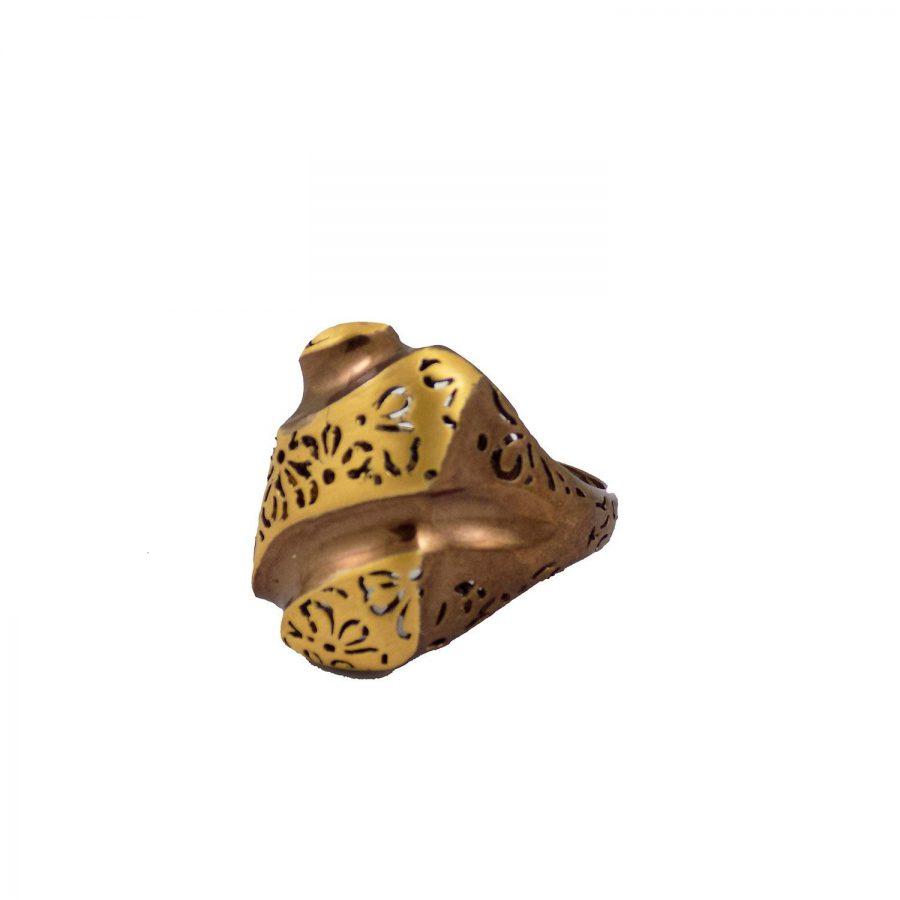 نیم ست نقره زنانه شکلاتی ma-n111 از نمای انگشتر