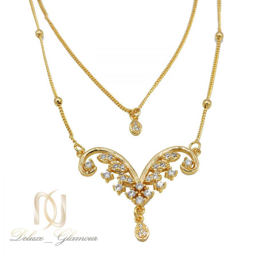 گردنبند زنانه طرح طلا nw-n564 از نمای روبرو