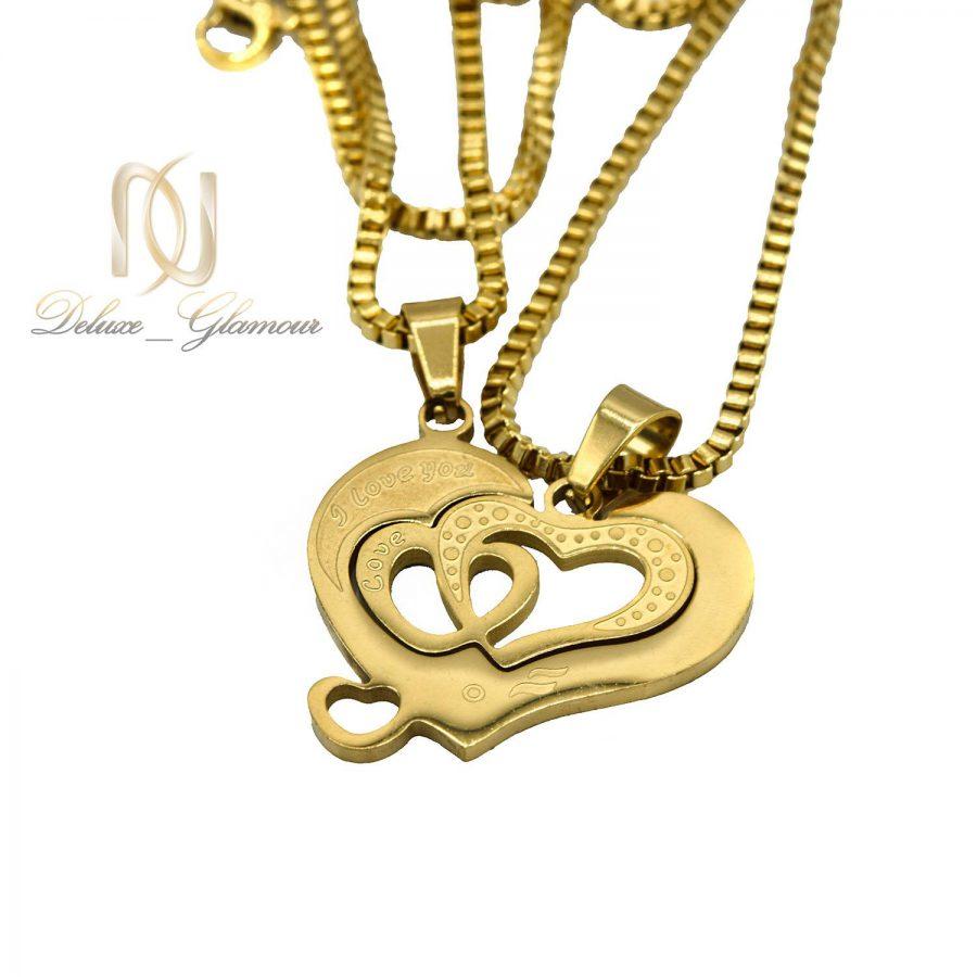 گردنبند ست دو تکه طرح قلب nw-n559