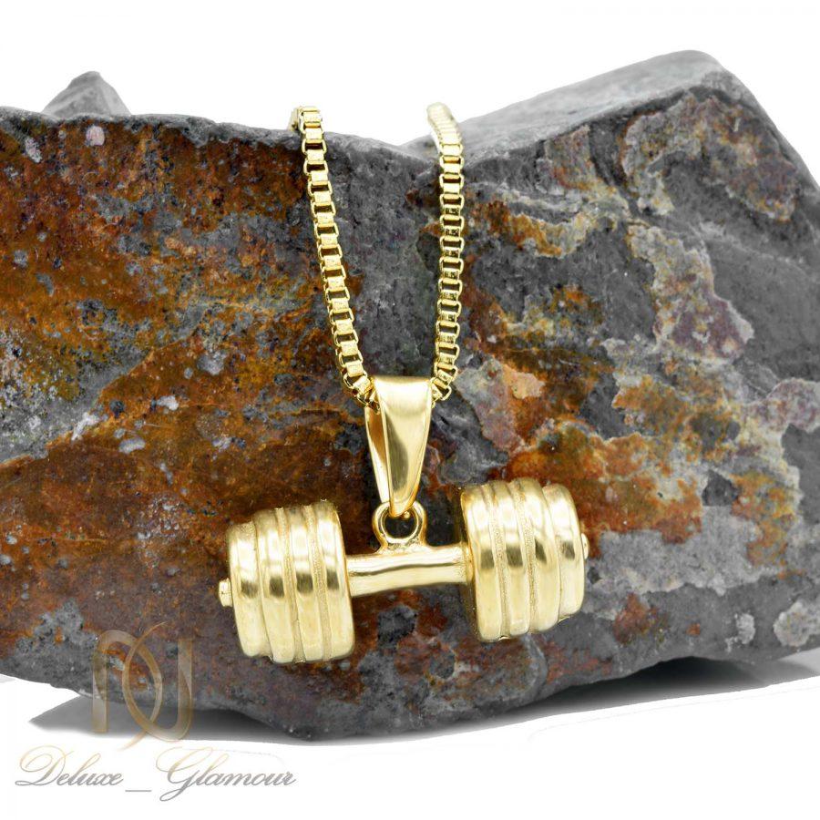 گردنبند طرح دمبل طلایی nw-n561