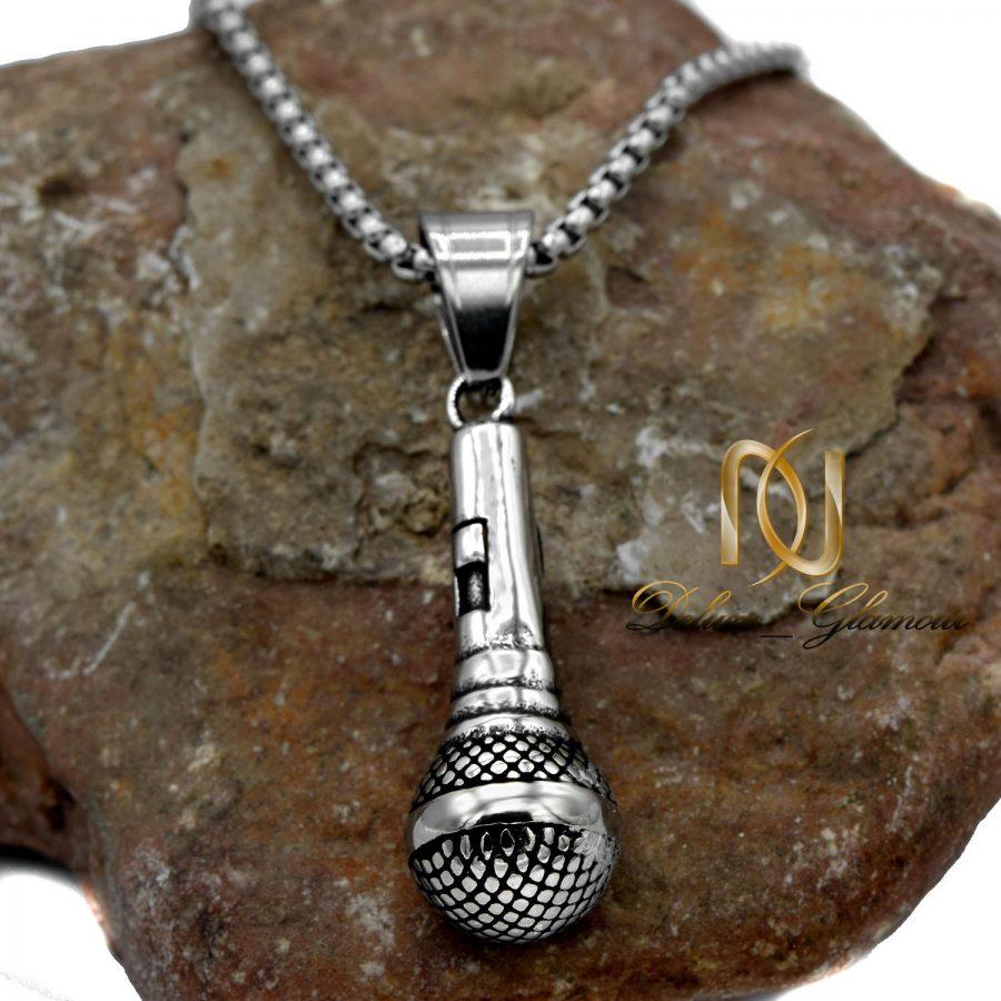 گردنبند طرح میکروفون مردانه NW-N557 از نمای نزدیک