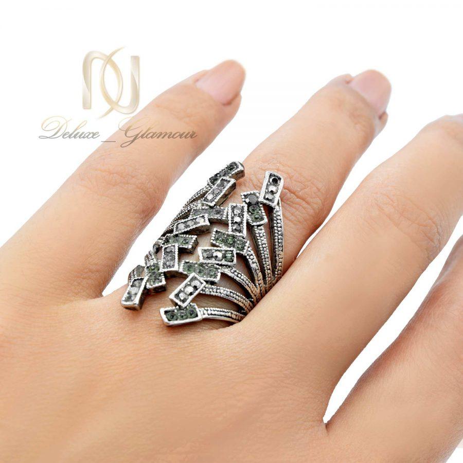 انگشتر زنانه استیل نگین مارکازیت rg-n455