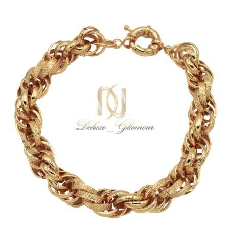 دستبند زنانه زنجیری طرح طلا ds-n523 از نمای بالا