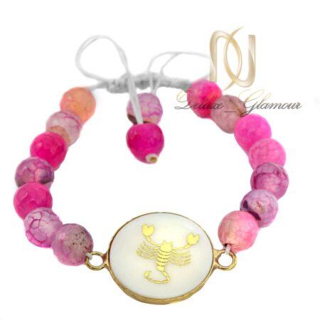 دستبند سنگ ماه تولد آبان ds-n522 از نمای سفید