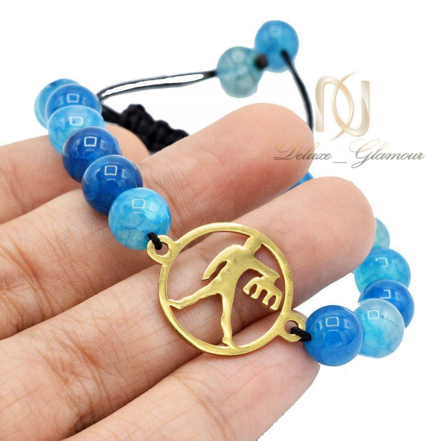 دستبند سنگ ماه تولد مهر ds-n517