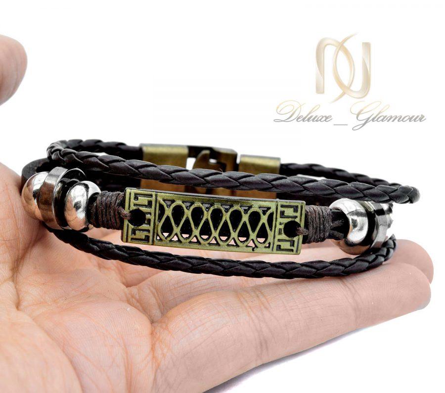 دستبند چرم اسپرت سه ردیفه ds-n521