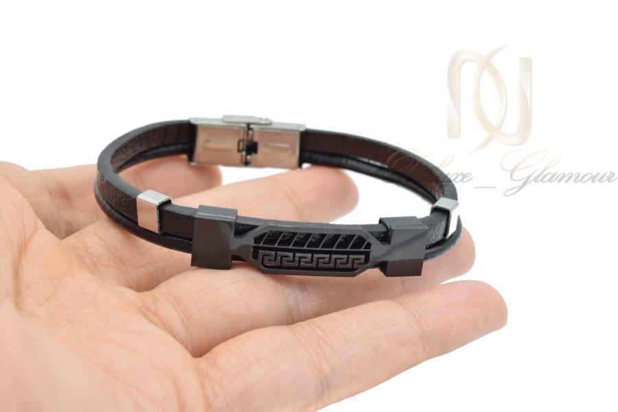 دستبند چرم مردانه طرح ورساچه DS-N527