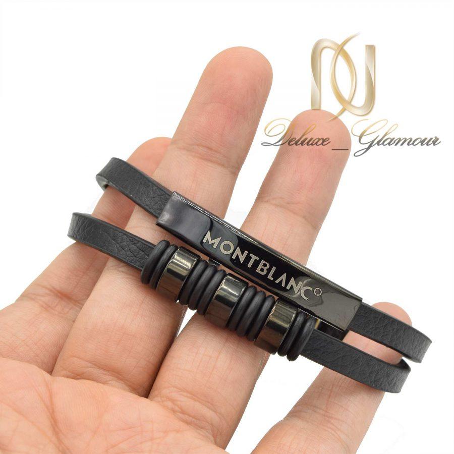 دستبند چرم مون بلان مردانه ds-n525