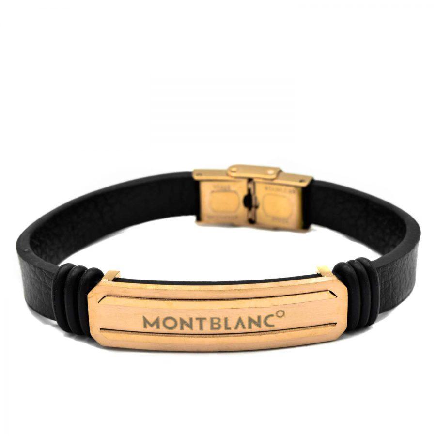 دستبند چرم MONT BLANC مردانه DS-N526