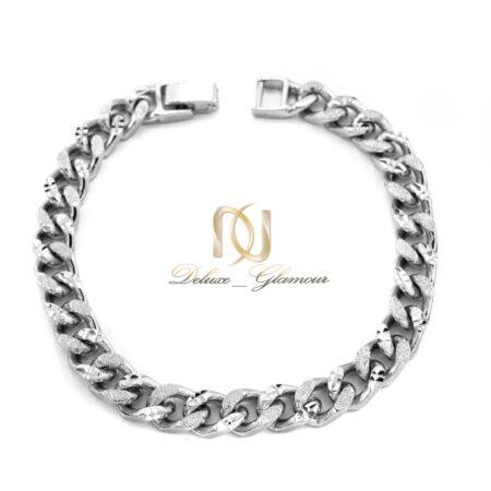 دستبند ژوپینگ زنانه نقره ای طرح کارتیه ds-n520 از نمای بالا