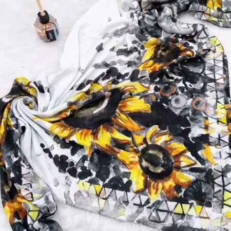 روسری نخی طرح آفتابگردان sr-n390