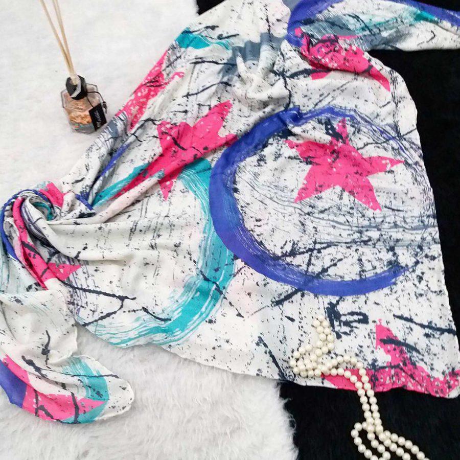 روسری نخی طرح ماه و ستاره sr-n372