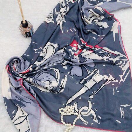 روسری نخی قواره بزرگ طرح جدید sr-n367 از نمای بالا