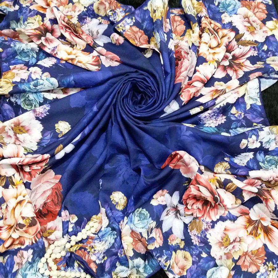 روسری نخی قواره بزرگ طرح جدید sr-n386