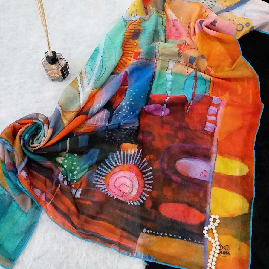 روسری نخی قواره بزرگ پاییزه sr-n379