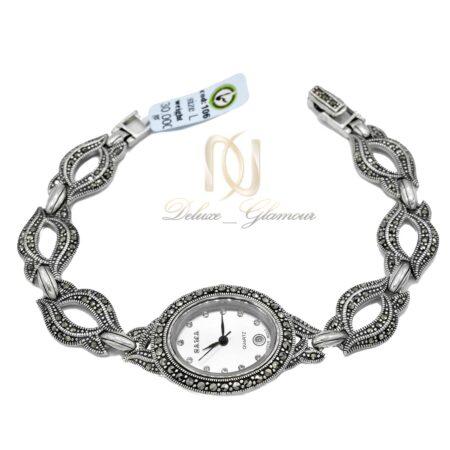 ساعت نقره زنانه سما wh-n170 از نمای سفید