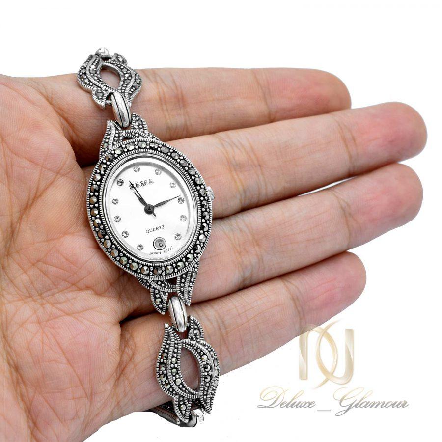 ساعت نقره زنانه سما wh-n170 از نمای روی دست