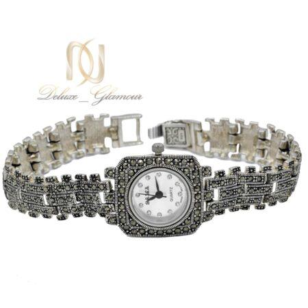 ساعت نقره زنانه مربعی wh-n171 از نمای سفید