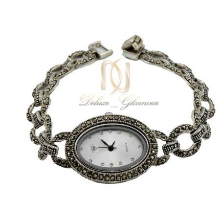ساعت نقره زنانه نگین مارکازیت WH-N172 از نمای سفید