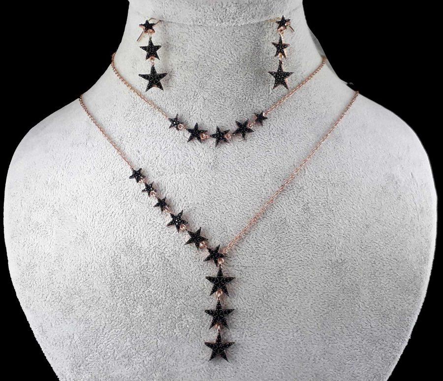 سرویس نقره دخترانه طرح ستاره ma-n124