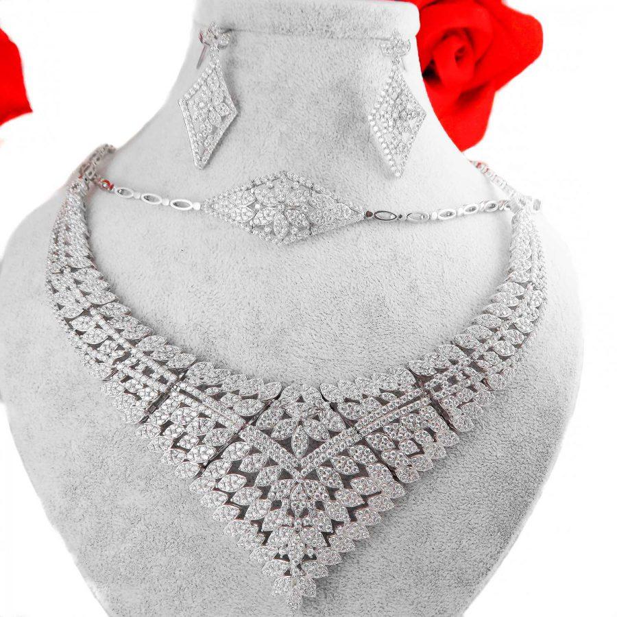 سرویس نقره جواهری جدید ma-n127 از نمای روبرو