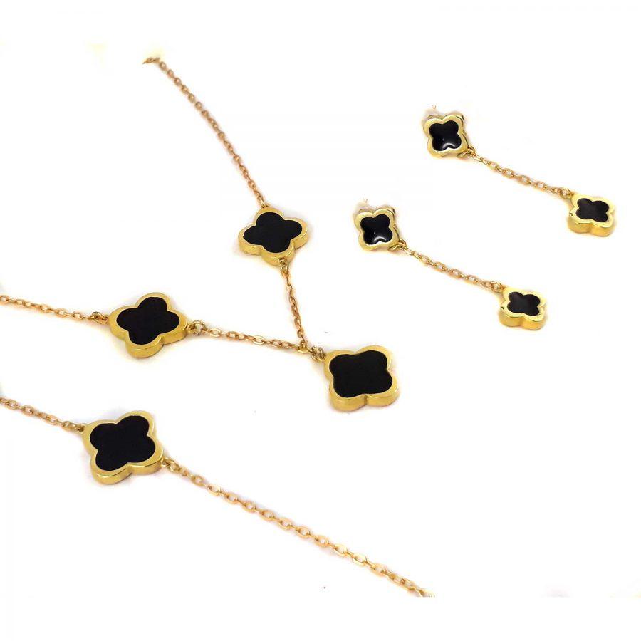 سرویس نقره طرح ونکلیف طلایی ma-n135 از نمای سفید