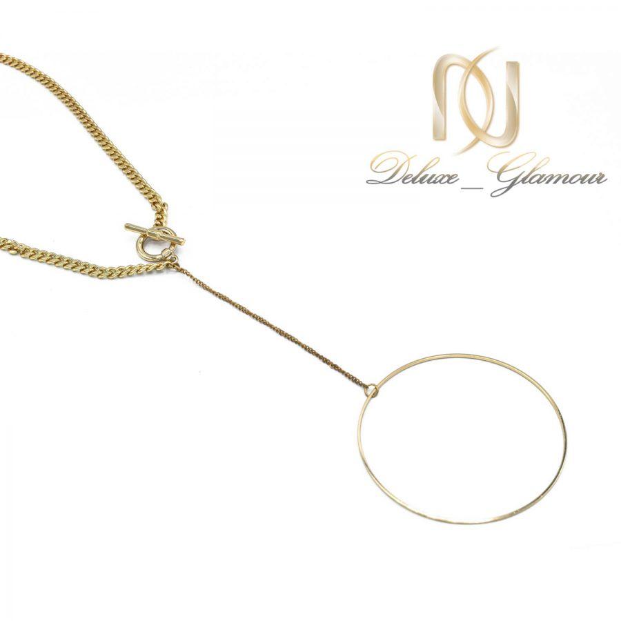 گردنبند رومانتویی زنانه طلایی nw-n588 از نمای سفید