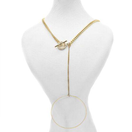 گردنبند رومانتویی زنانه طلایی nw-n588