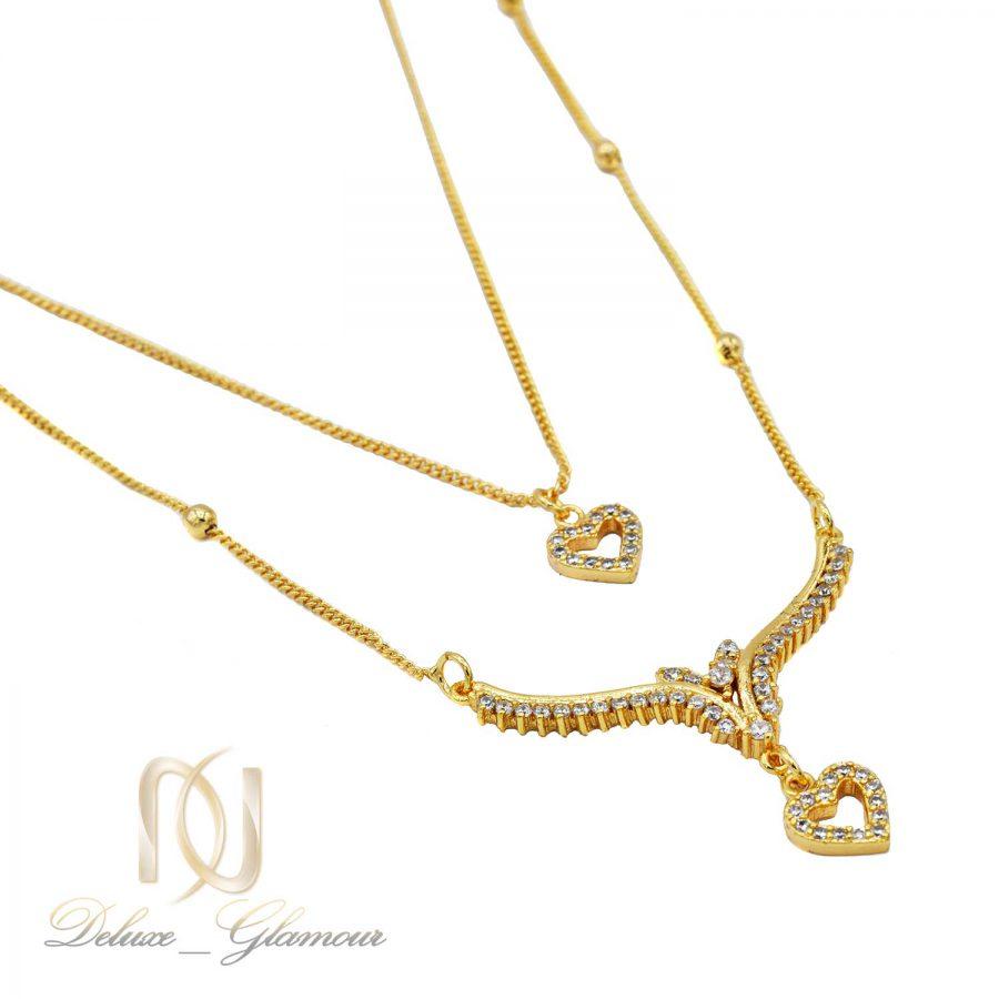 گردنبند زنانه دو ردیفه طلایی nw-n594