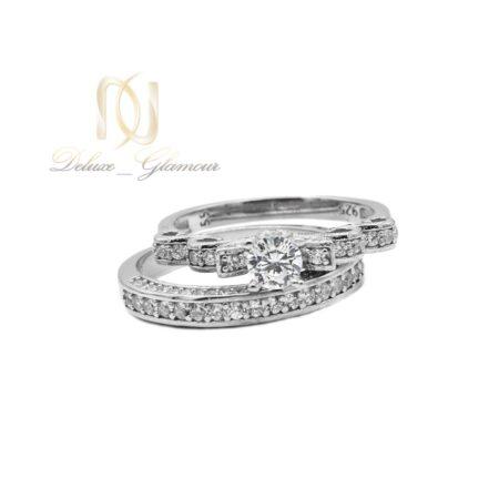حلقه و پشت حلقه نقره دخترانه rg-n463