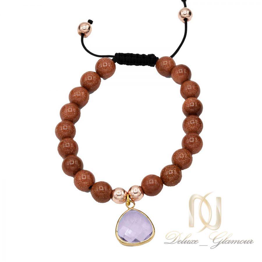 دستبند دخترانه سنگ عقیق دلربا ds-n531