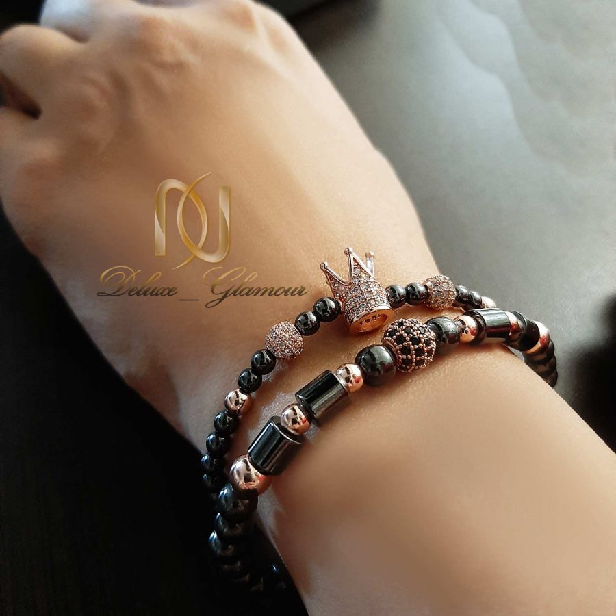دستبند ست دخترانه سنگ حدید ds-n536