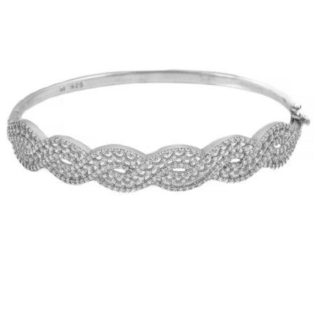 دستبند نقره زنانه پرنگین قفلی ma-n137