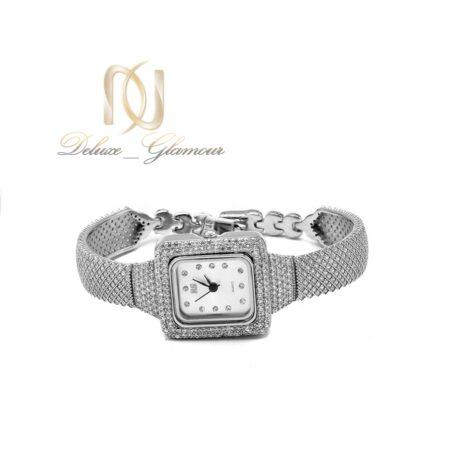 ساعت نقره زنانه جواهری مربعی wh-n178