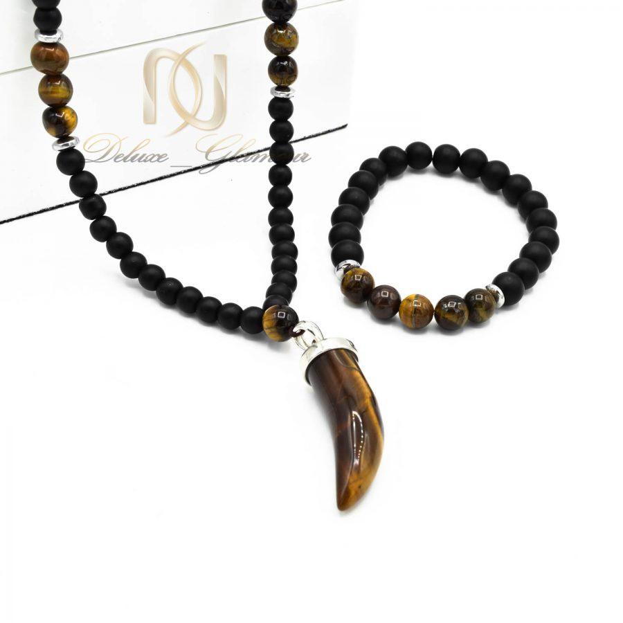 ست دستبند و گردنبند اسپرت سنگی ns-n497