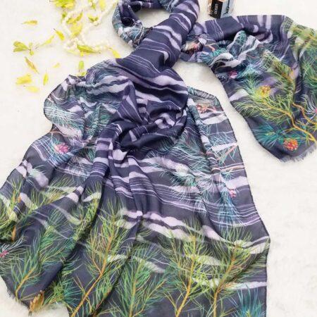 شال نخی پاییزه طرحدار sr-n393