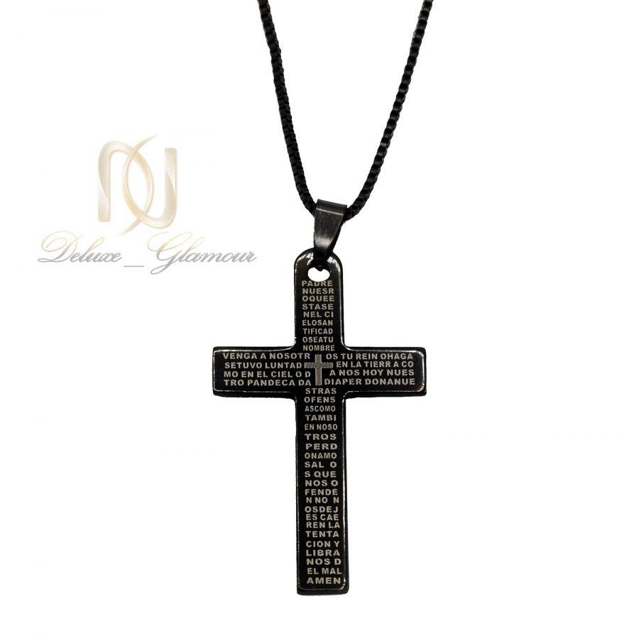 گردنبند طرح صلیب مشکی مردانه NW-N610