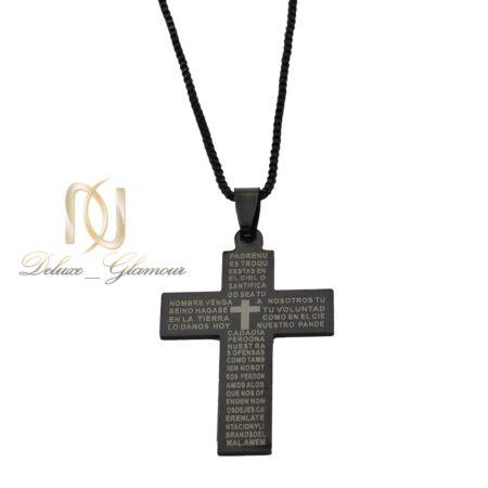گردنبند پسرانه طرح صلیب مشکی nw-n621