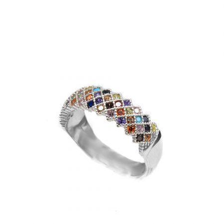 انگشتر زنانه نقره طرح پرنس rg-n470 از نمای سفید