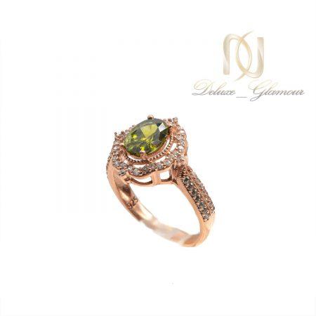 انگشتر زنانه نقره نگین سبز rg-n468