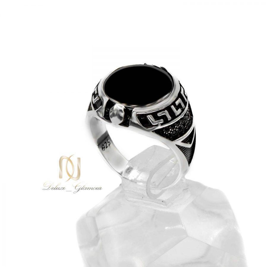 انگشتر نقره ترک مردانه طرح خاص rg-n476 از نمای سفید