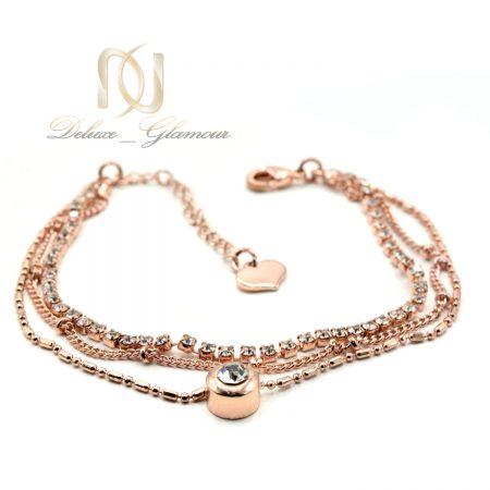دستبند دخترانه ظریف استیل ds-n559 از نمای سفید