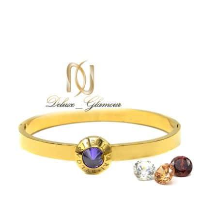 دستبند زنانه طرح بولگاری استیل ds-n550 از نمای سفید